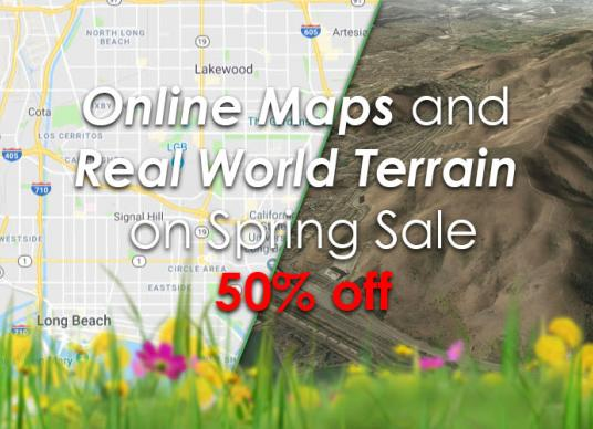 Online Maps and Real World Terrain on Spring Sale