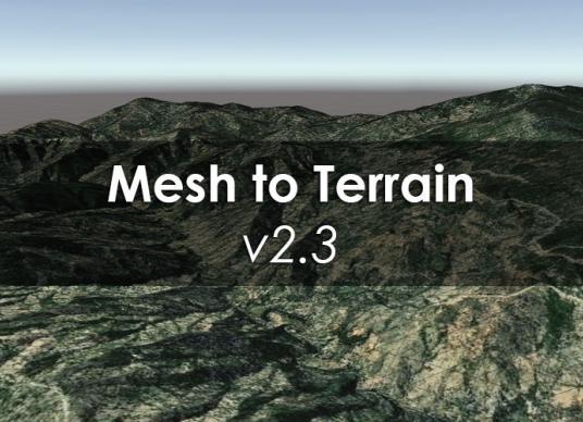 Mesh To Terrain v2.3