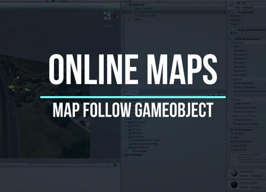 Online Maps - Map follow GameObject