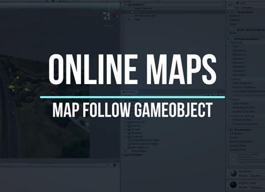 Online Maps - Map follow GameObject